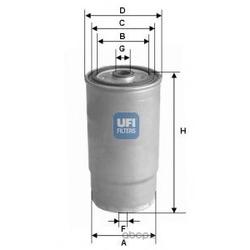 Топливный фильтр (UFI) 2401200