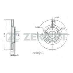 Диск торм. перед. Nissan Qashqai / +2 (J10) 07- X-Trail (T31) 07- (Zekkert) BS5183
