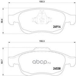 Комплект тормозных колодок, дисковый тормоз (Mintex) MDB3043