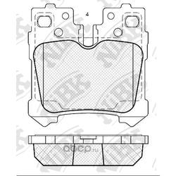 Колодки тормозные дисковые (NiBK) PN1844