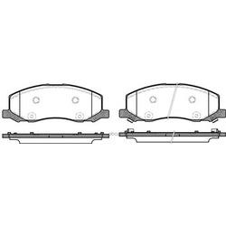 Комплект тормозных колодок, дисковый тормоз (Remsa) 138602