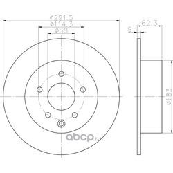 Тормозной диск (Mintex) MDC2503