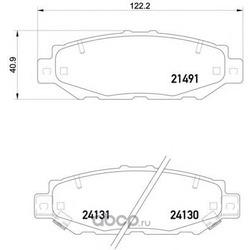 Колодки тормозные дисковые TEXTAR (Textar) 2149101