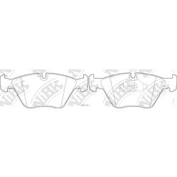Колодки тормозные дисковые (NiBK) PN0027