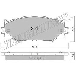 Комплект тормозных колодок, дисковый тормоз (Trusting) 7760
