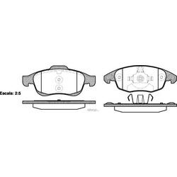 Комплект тормозных колодок, дисковый тормоз (Remsa) 124800