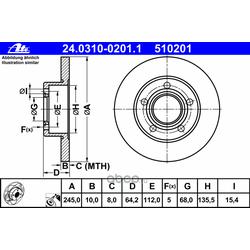 Тормозной диск (Ate) 24031002011