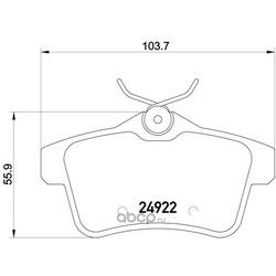 Комплект тормозных колодок, дисковый тормоз (Brembo) P61114