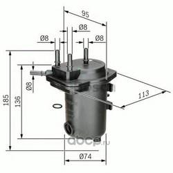 Топливный фильтр (Bosch) 0450907012
