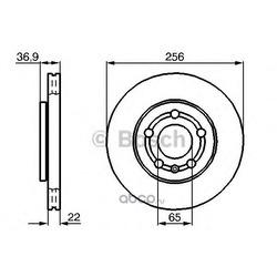 Диск тормозной передний вентилируемый Bosch (Bosch) 0986478853
