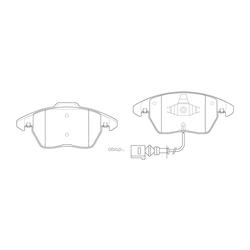 Колодки тормозные дисковые с датчиком износа (FIT) FP1375E