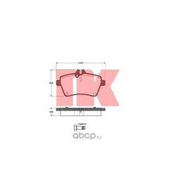 Комплект тормозных колодок, дисковый тормоз (Nk) 223356