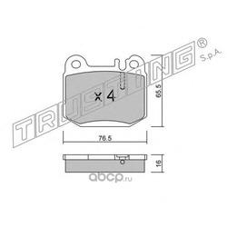 Комплект тормозных колодок, дисковый тормоз (Trusting) 5800