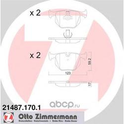 Колодки тормозные дисковые, комплект (Zimmermann) 214871701