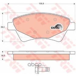 """Колодки тормозные дисковые, комплект """"COTEC (TRW/Lucas) GDB1597"""