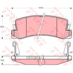 Комплект тормозных колодок, дисковый тормоз (TRW/Lucas) GDB3164