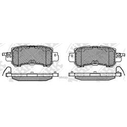 Колодки тормозные дисковые (NiBK) PN25001