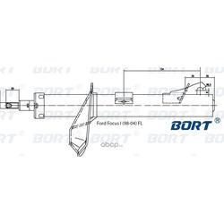 Стойка амортизационная газомасляная передняя левая (BORT) G22045161L