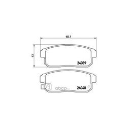 Колодки тормозные дисковые задние, комплект (Brembo) P49035