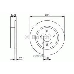 Диск тормозной (Bosch) 0986479645