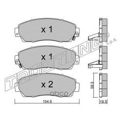 Комплект тормозных колодок, дисковый тормоз (Trusting) 9200