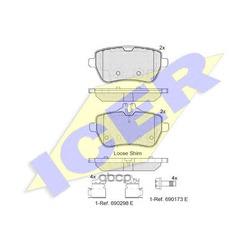 Комплект тормозных колодок, дисковый тормоз (Icer) 182076