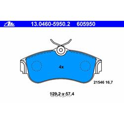Колодки тормозные дисковые, комплект (Ate) 13046059502