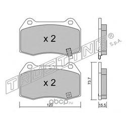 Комплект тормозных колодок, дисковый тормоз (Trusting) 7540