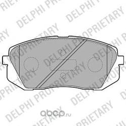 Колодки тормозные дисковые, комплект (Delphi) LP2050