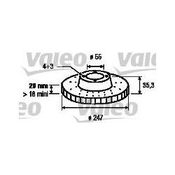 Тормозной диск (Valeo) 197047