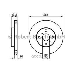 Тормозной диск (Bosch) 0986479012
