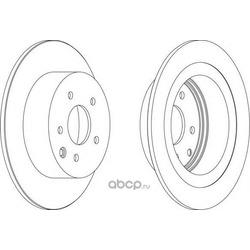 Тормозной диск (Ferodo) DDF1590