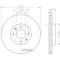 Тормозной диск (Hella) 8DD355109331