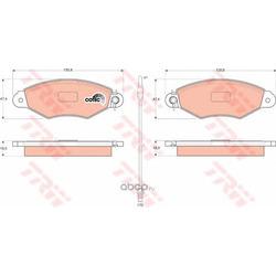 Комплект тормозных колодок, дисковый тормоз (TRW/Lucas) GDB1402
