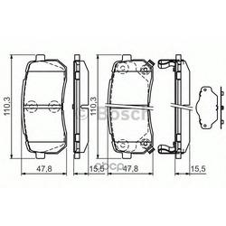 Комплект тормозных колодок, дисковый тормоз (Bosch) 0986494327