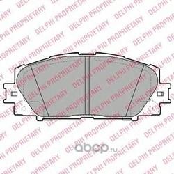 Колодки тормозные, комплект, передние (Delphi) LP2135