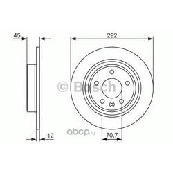 Тормозной диск (Bosch) 0986479646