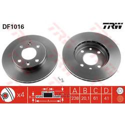 Диск тормозной вентилируемый (TRW/Lucas) DF1016