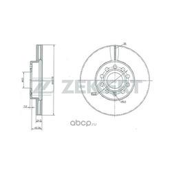 Тормозной диск (Zekkert) BS5043
