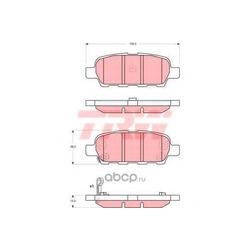 Колодки тормозные задние (TRW/Lucas) GDB3294