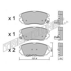 Комплект тормозных колодок, дисковый тормоз (Trusting) 8580