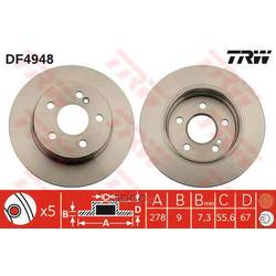 Тормозной диск (TRW/Lucas) DF4948