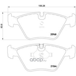 Комплект тормозных колодок, дисковый тормоз (Mintex) MDB1393