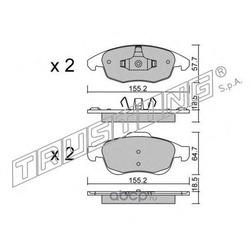 Комплект тормозных колодок, дисковый тормоз (Trusting) 8160