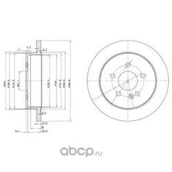 Тормозной диск (Delphi) BG3398