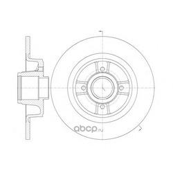 Тормозной диск (Remsa) 669800