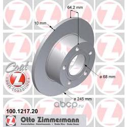 "Диск тормозной, ""Coat Z (Zimmermann) 100121720"