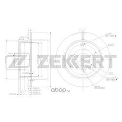 Диск.торм.зад Chevrolet Captiva (C100 C140) 06- Opel Antara 06- (Zekkert) BS5269