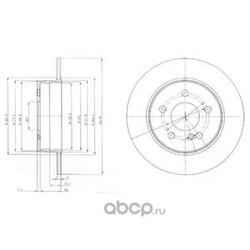Тормозной диск (Delphi) BG4152