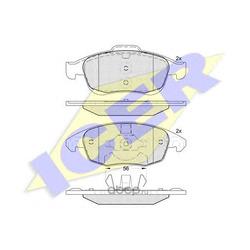 Колодки тормозные дисковые, комплект (Icer) 181852
